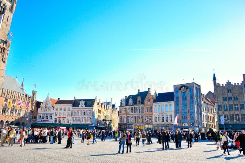 Bruges Belgien fotografering för bildbyråer