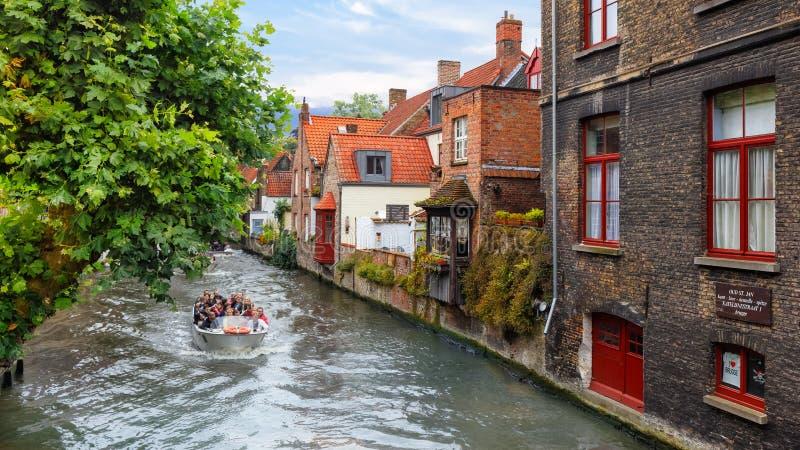 Bruges, Belgio - 18 agosto 2015 fotografie stock libere da diritti