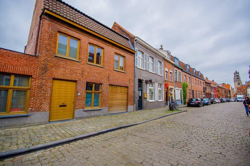 Bruges, Belgique - 11 août 2015 : Très avec du charme photographie stock