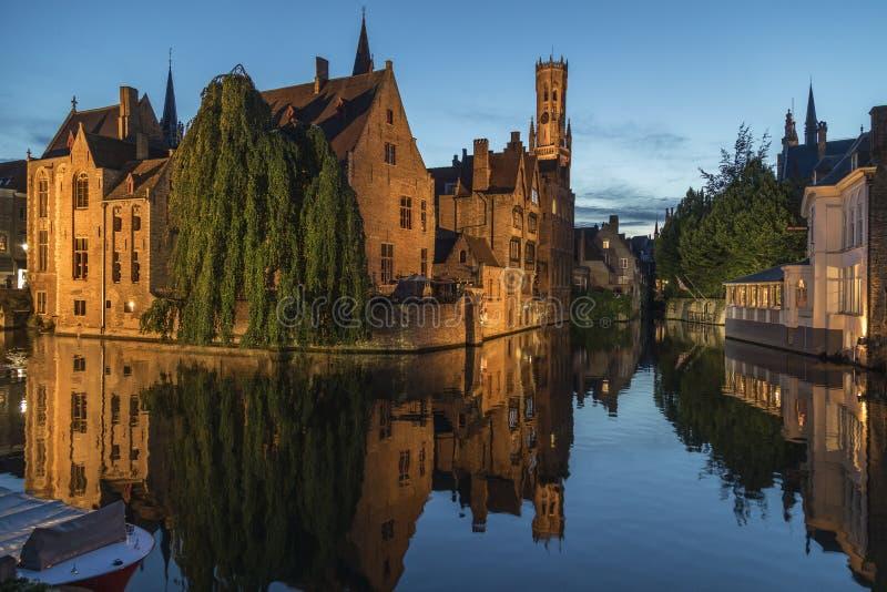 Bruges in Belgium - The Rozenhoedkaai stock photography