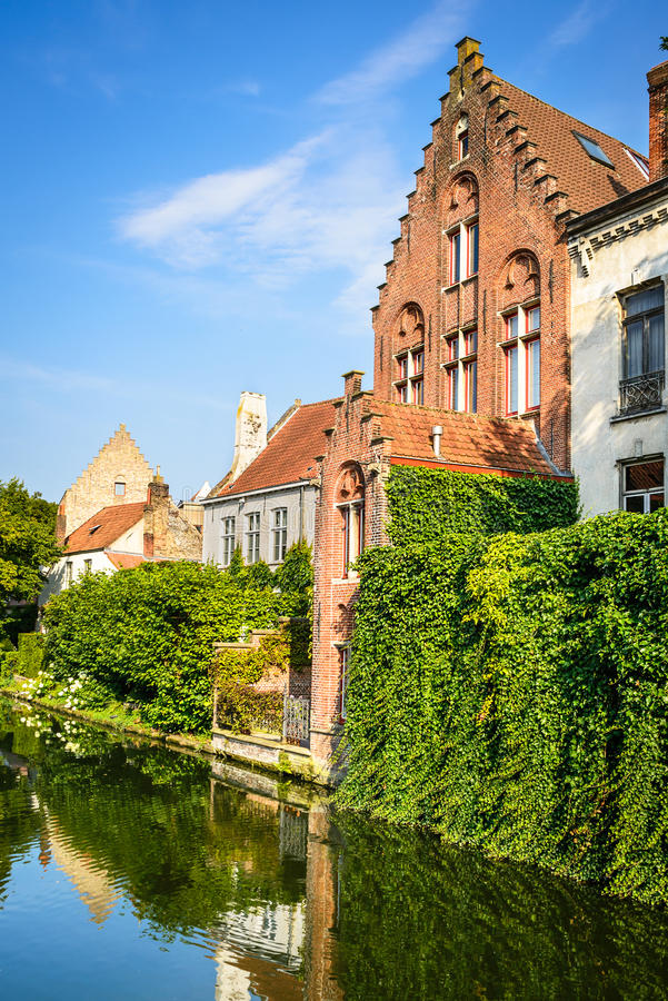 Bruges canal, Belgium royalty free stock image