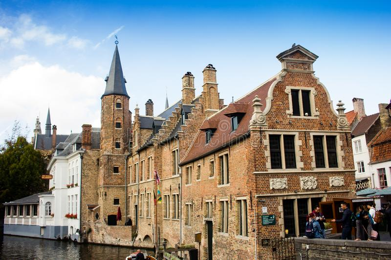 Hiistoric centre of Bruges royalty free stock photography