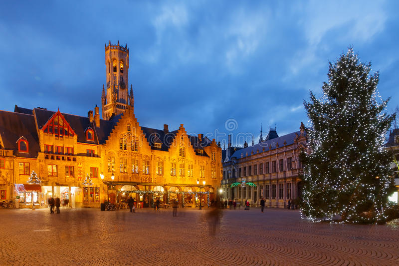 Bruges at Christmas. stock image