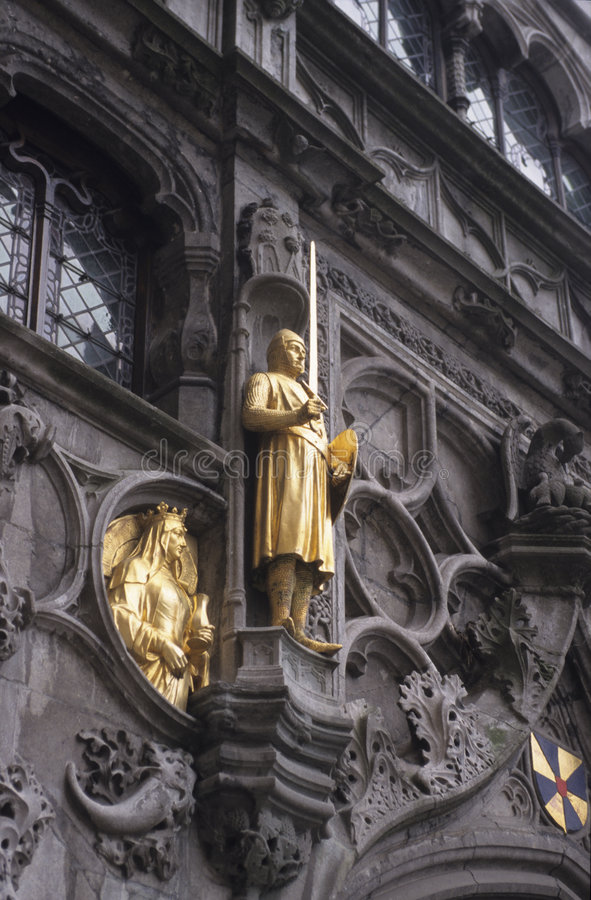 Download Bruges court stock image. Image of historic, statue, queen - 1742023