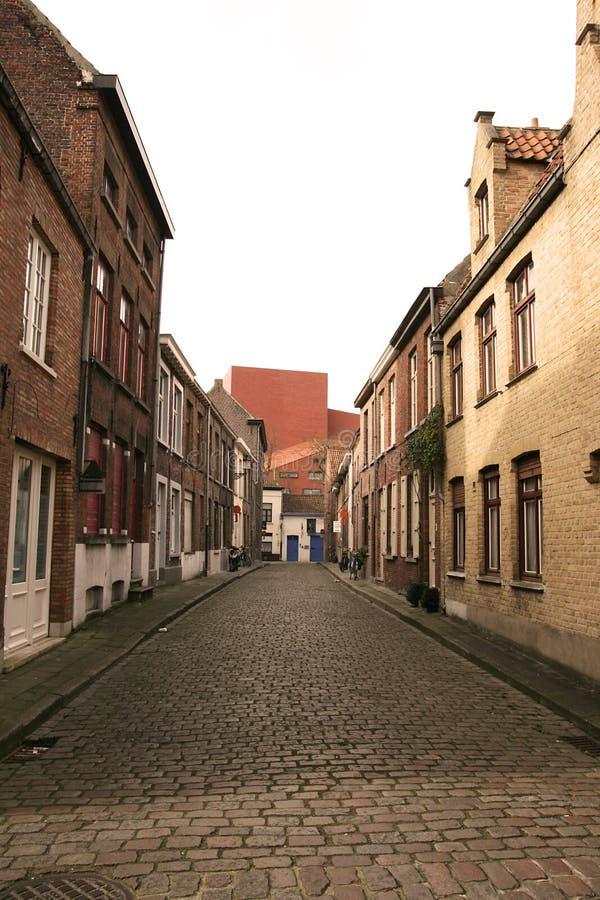 bruges gator arkivbilder
