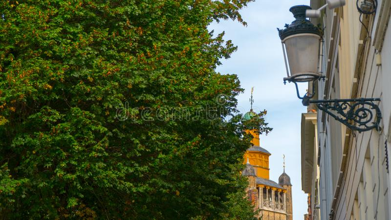 Bruges härliga sikter av staden arkivbilder