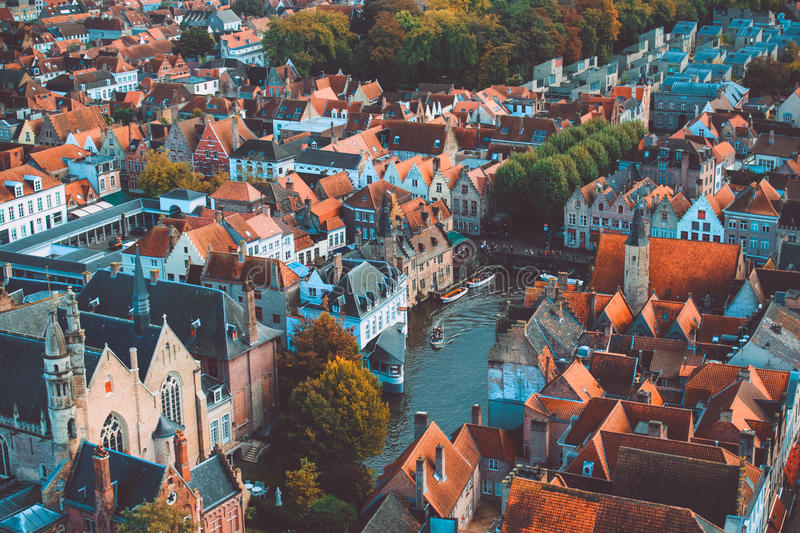 Bruges high view royalty free stock photo