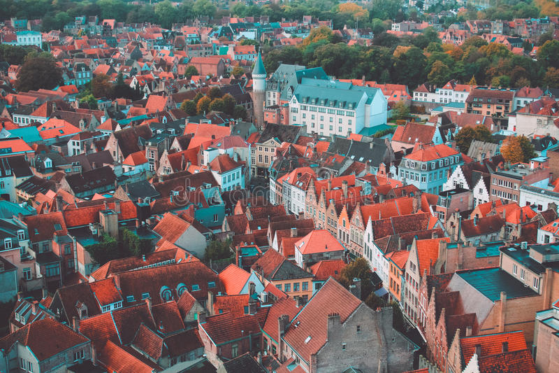 Bruges high view royalty free stock images