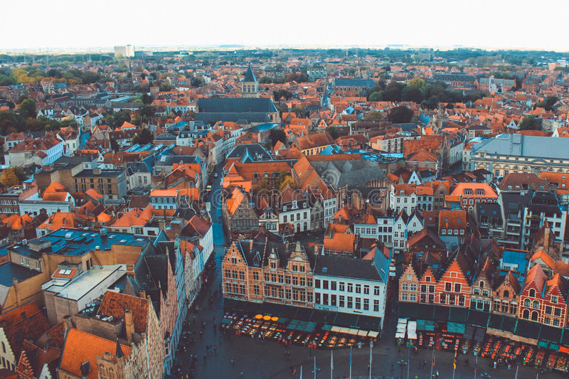 Bruges high view royalty free stock image