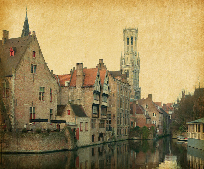 Download Bruges stock photo. Image of grunge, artistic, buildings - 32055618