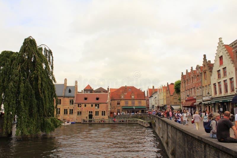 Bruges historisk stad Belgien royaltyfria foton