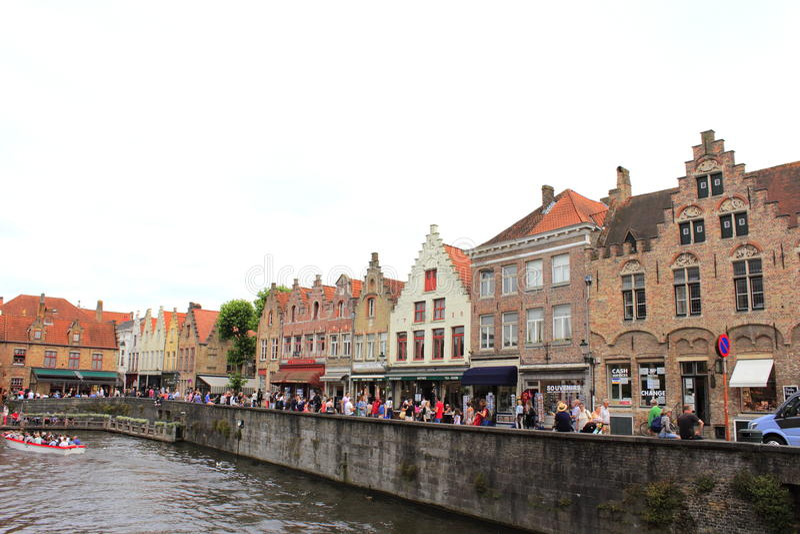 Bruges historisk stad Belgien royaltyfri fotografi