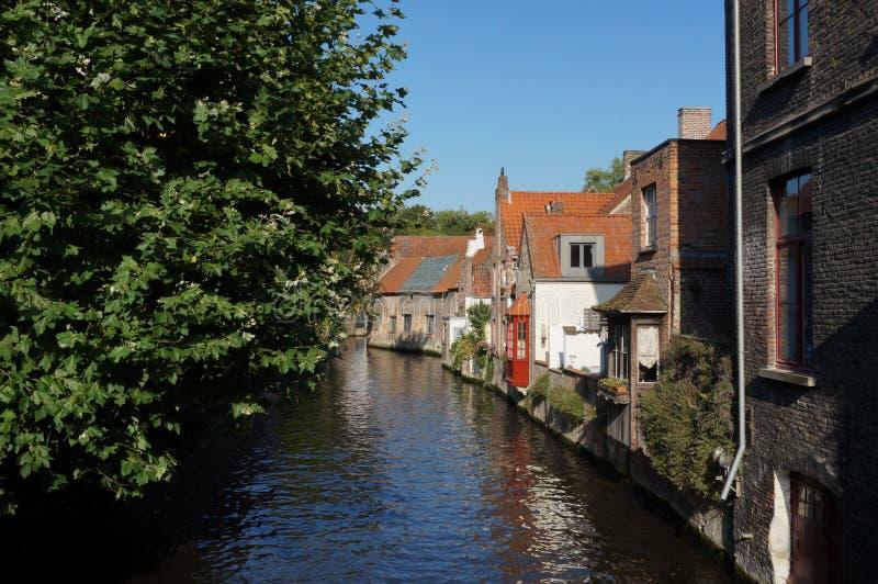 Bruges kanału widok zdjęcie stock