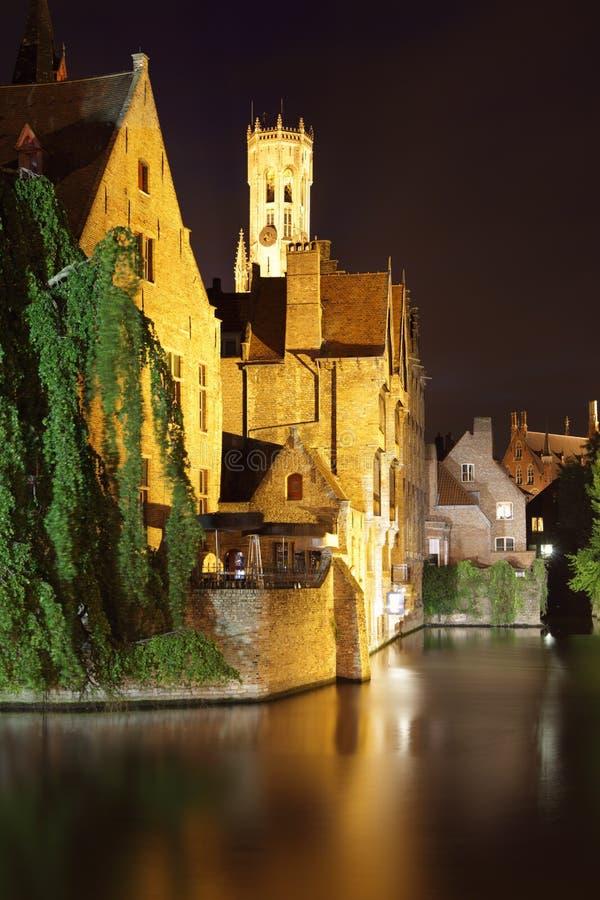 Download Bruges at night stock image. Image of belgian, flemish - 21391247