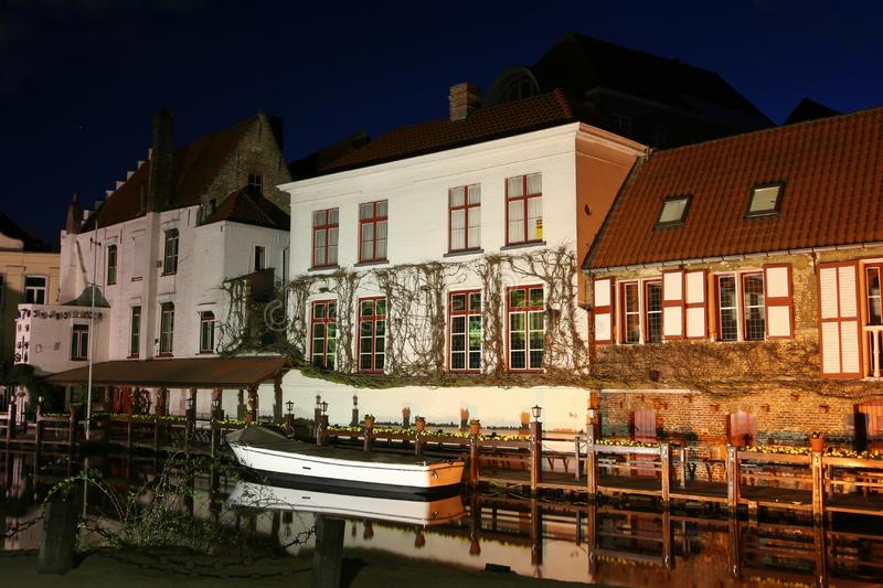 Bruges by night royalty free stock photos