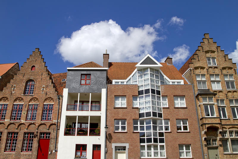 Download Bruges Old and New Homes stock photo. Image of architecture - 20587182