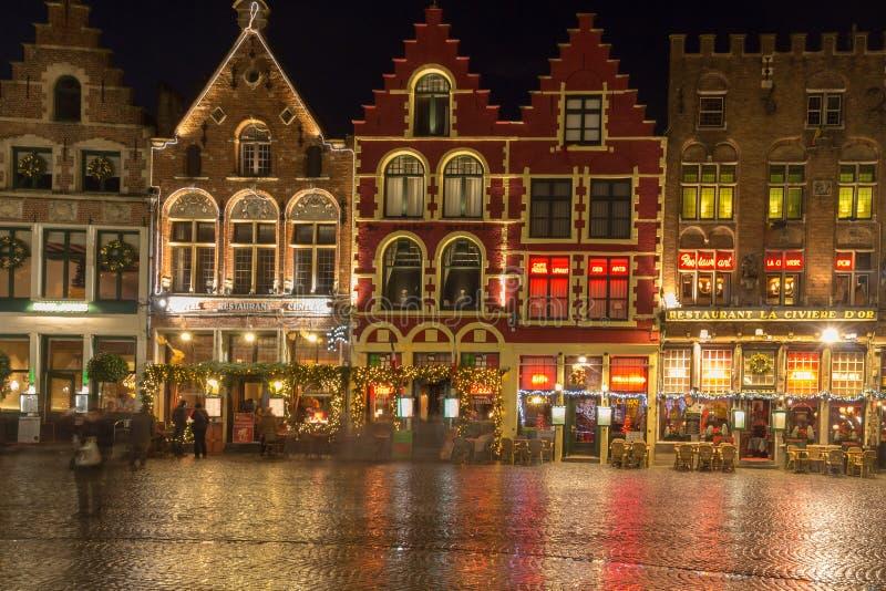 Bruges på jul fotografering för bildbyråer