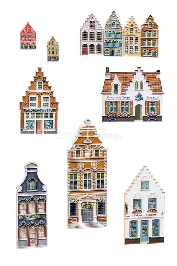 Bruges pamiątki magnesy ilustracja wektor