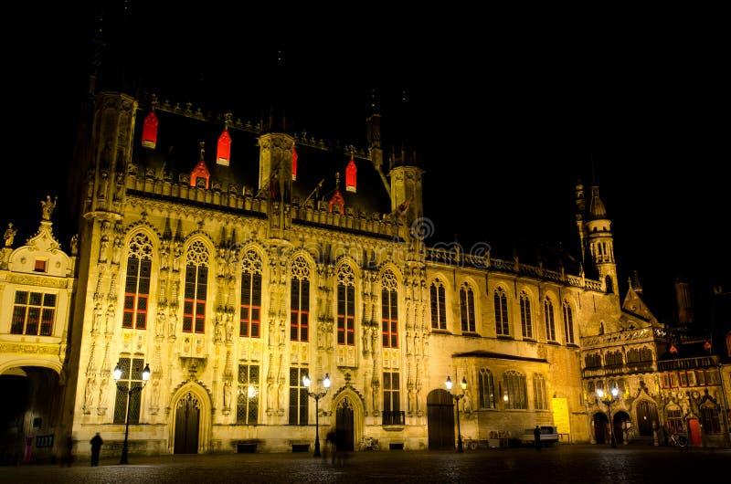 Bruges przy nocą zdjęcie stock