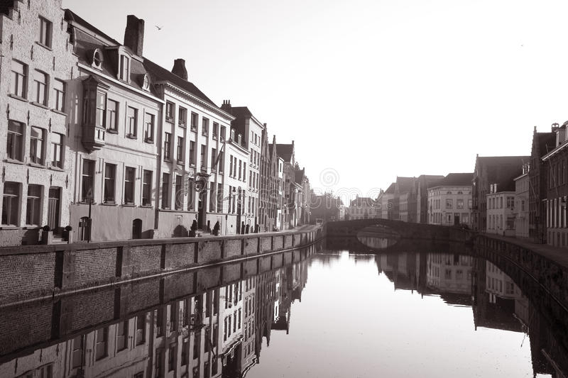 Bruges in Sepia royalty free stock image