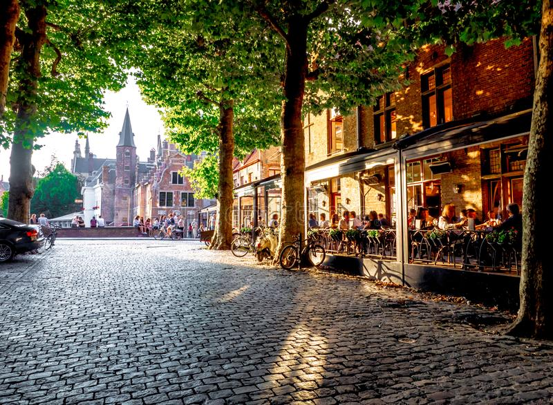 001-19 Bruges at sunset royalty free stock photo