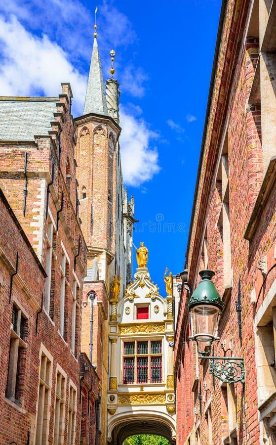 Bruges, vicolo cieco dell'asino, Belgio immagine stock