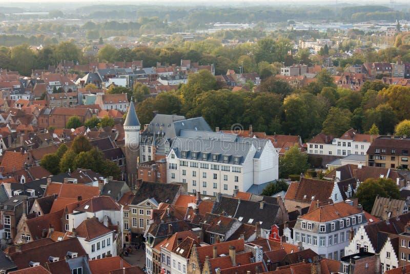 Bruges - vista della città fotografia stock libera da diritti