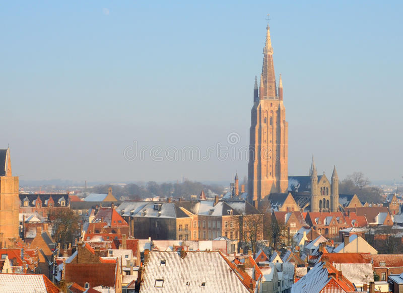 Download Bruges in winter stock photo. Image of europe, brick - 23794882
