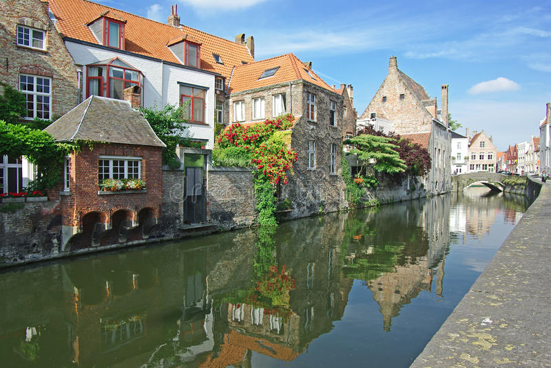 Brugge. On a photo street of Brugge stock images