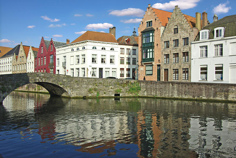 Brugge. On a photo: Street of Brugge stock photography