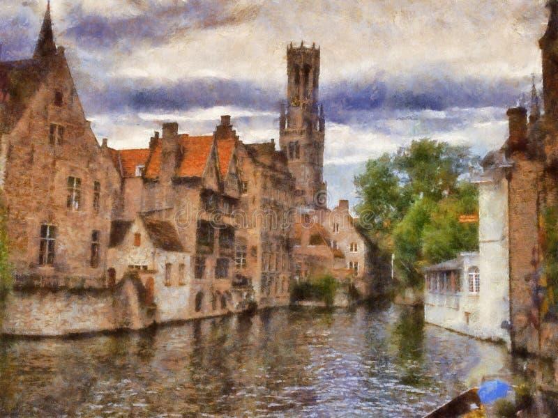 Brugge vector illustratie