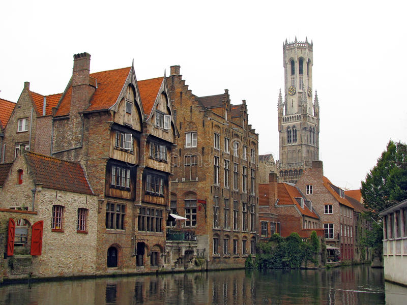 Brugge. One of the most romantic cities in Europe royalty free stock photo