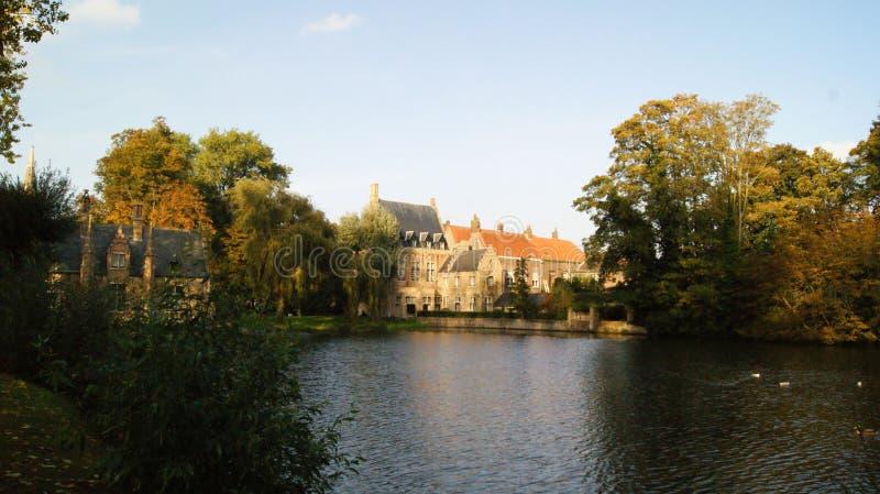 Brugge, België, beelden van de stad royalty-vrije stock afbeelding