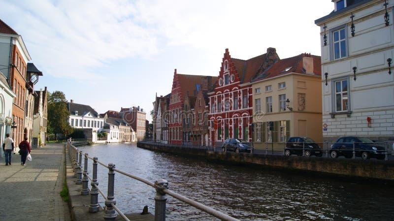 Brugge, België, beelden van de stad stock foto's