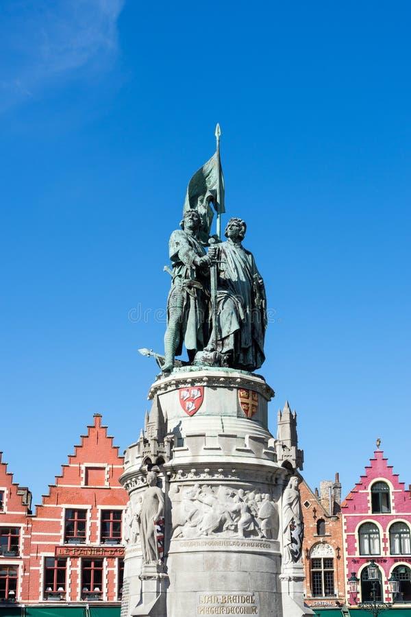 BRUGGE, BELGIË EUROPA - 25 SEPTEMBER: Jan Breydel en Peter D royalty-vrije stock foto's