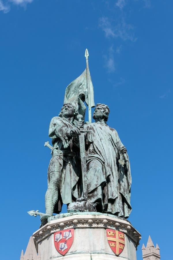 BRUGGE, BELGIË EUROPA - 26 SEPTEMBER: Jan Breydel en Peter De royalty-vrije stock fotografie