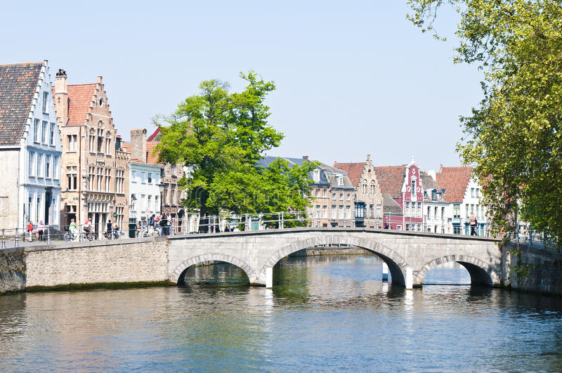 Brugge Belgium. Views from the historical town of Brugge in Belgium stock photography