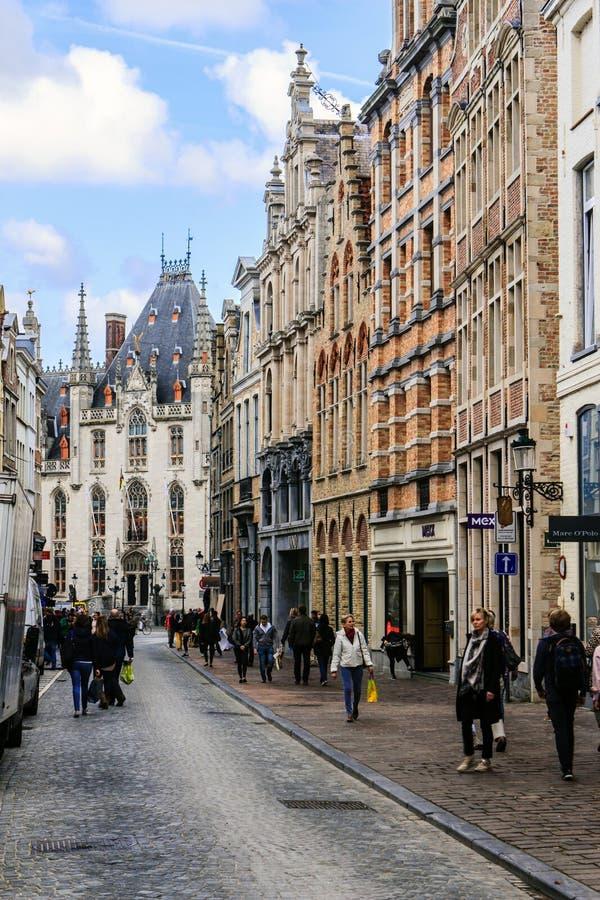 Brugge Bruges, Belgien arkivbild