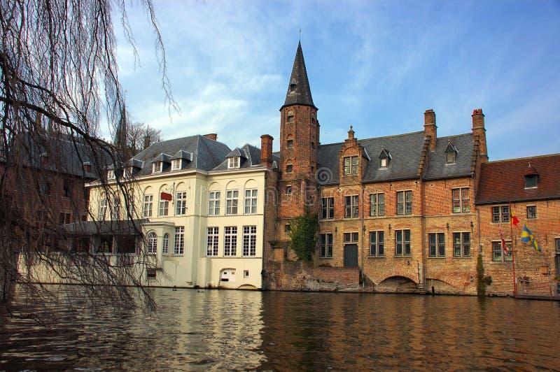 Brugge, Brugge, Mening Van Het Kanaal. Royalty-vrije Stock Afbeeldingen