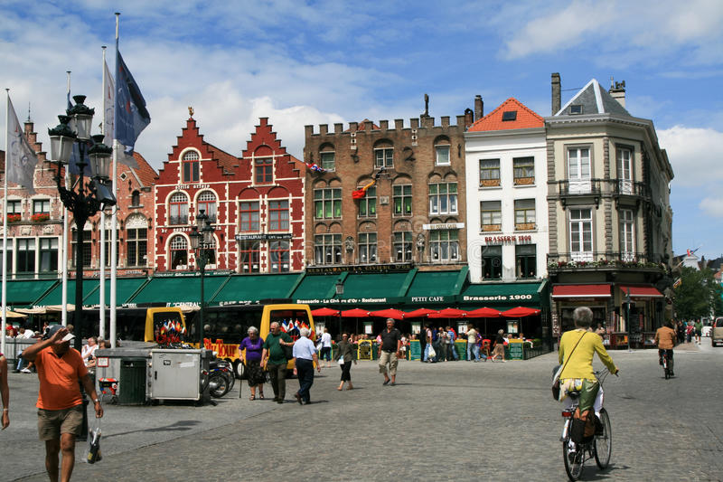 Download Brugge, Burges Grote Markt Square Editorial Photo - Image: 21140636