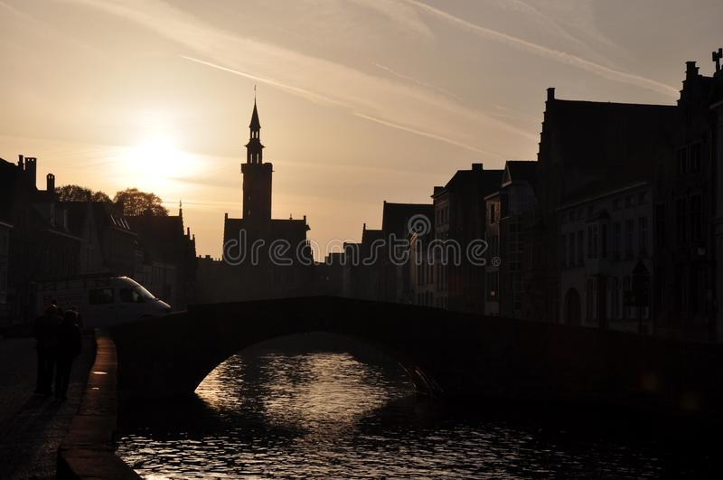 Brugge. Is a city in Belgium renowned for it's Bridges, canals and beer royalty free stock photography