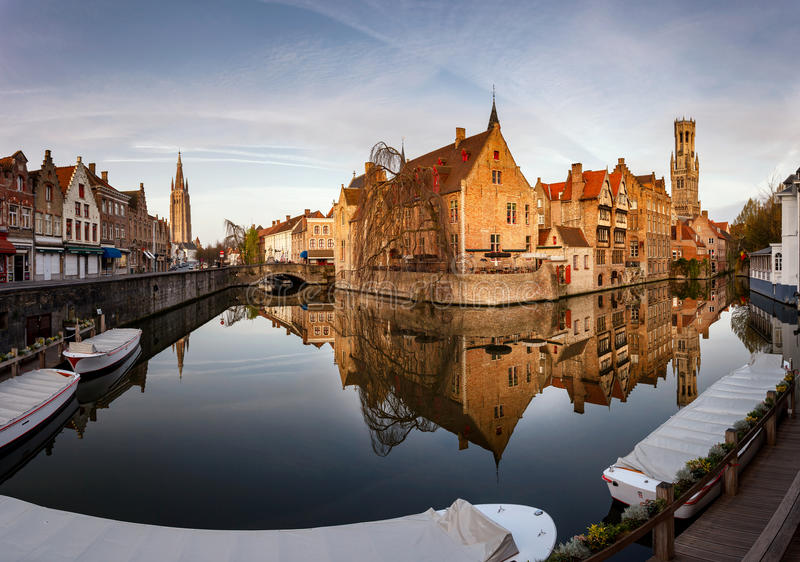 Brugge linia horyzontu Bruksela zdjęcia royalty free