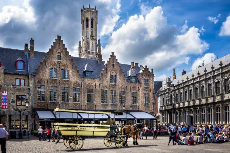Brugge medeltida historisk stad Brugge gator och historisk mitt, kanaler och byggnader _ royaltyfria foton