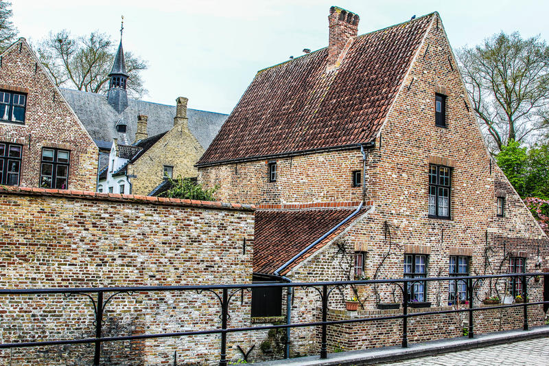 Brugge street #1 stock photography