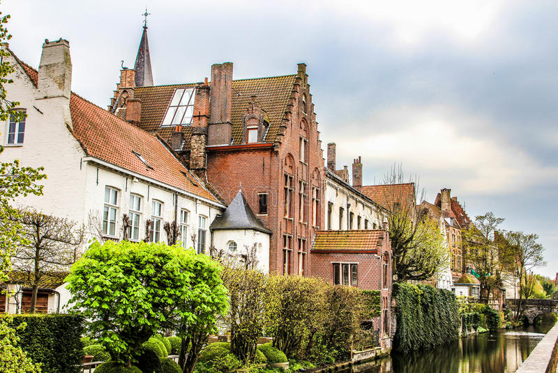 Brugge ulica -2 zdjęcia royalty free