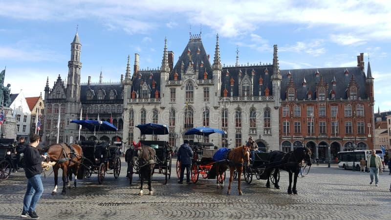 Brugge w ranku zdjęcia stock