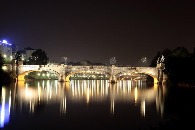 Bruggen in Turijn Italië royalty-vrije stock afbeelding