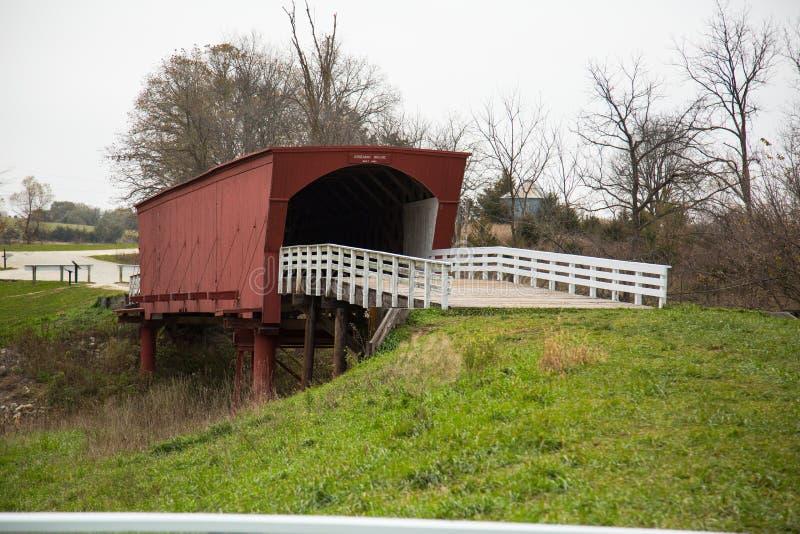 Bruggen van Madison County behandelde brug stock afbeelding