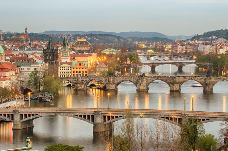 Bruggen van Praag royalty-vrije stock foto's