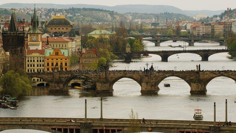 Bruggen van Praag, Tsjechische Republiek stock afbeeldingen